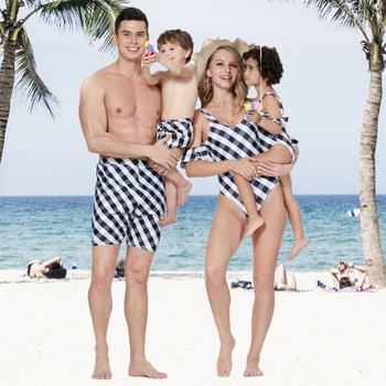 Plaid Family Matching Swimsuit