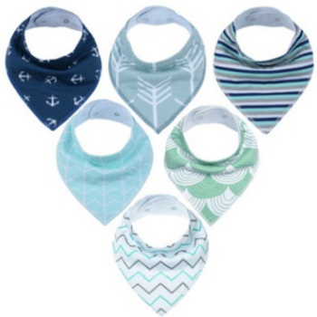 6-pack Striped Cotton Bibs