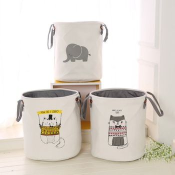 Animal Print Foldable Laundry Bucket