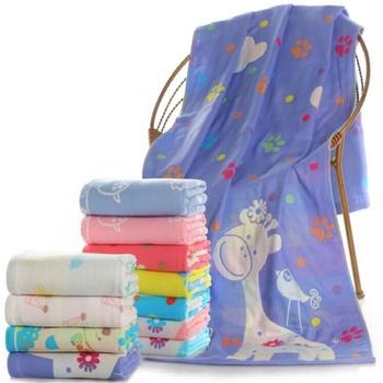 3 layers Gauze Cartoon Cute child towel High Quality Bath Towel Toddler