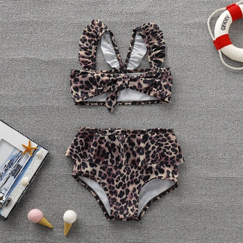 f968be0997f8 2-piece Baby / Toddler Leopard Print Swim Top and Shorts Set