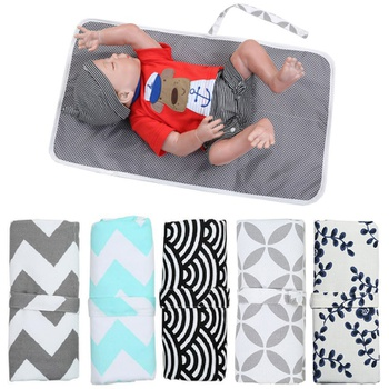 Hot Sale Baby Portable Diaper Changing Mat Foldable Washable Nappy Changing Pads Three-layer Changing Pad