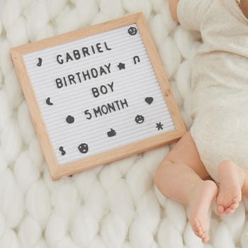 Changeable Felt Letter Board Memo Sign Message Bulletin Board