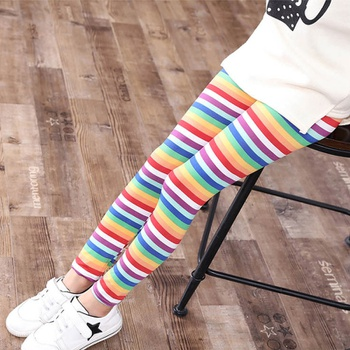 Casual Colorful Striped Leggings
