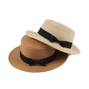 Toddler Fashionable Straw Bowknot Sunproof Hat