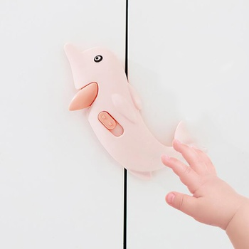 3-pcs Cute Child Lock Protection Locking Doors Kids Safety Plastic