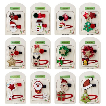 2-pack Christmas Adorable Hairpins for Girls