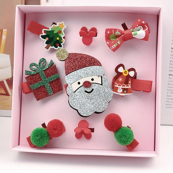 9-pack Sweet Christmas Decor Hairpins for Children