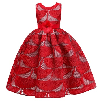 Trendy Hollow Out Flower Decor Bowknot Party Dress
