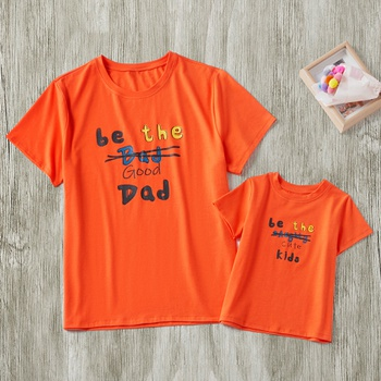 78178f0cfa Letter Print Couple T-shirts for Daddy and Me