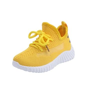 Toddler / Kid Breathable Net Surface Lace-up Solid Sneakers