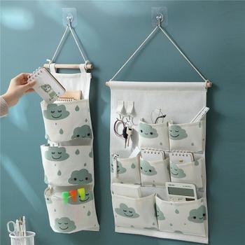 Multifunctional Printed Linen Hanging Storage Bag