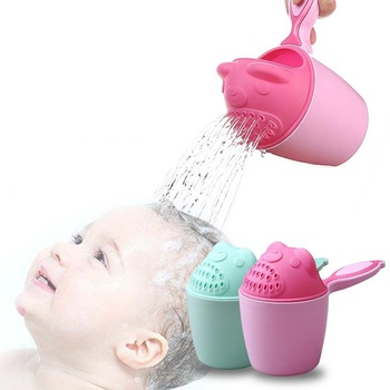 Baby Bath Shower Practical Shower Shampoo Rinse Cup Washing Head Cute Baby Gift