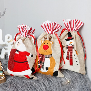 Christmas Santa Claus Packet Candy Bags Storage Decor Home Party