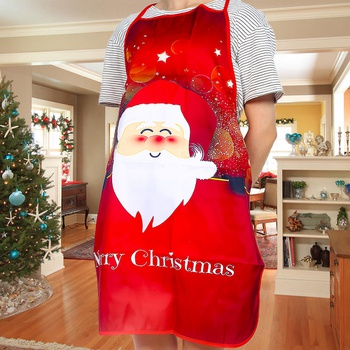 Christmas Kitchen Apron Dinner Party Decor Baking Cooking Aprons