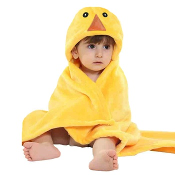 Soft Cartoon Duck Design Blanket Bath Towel