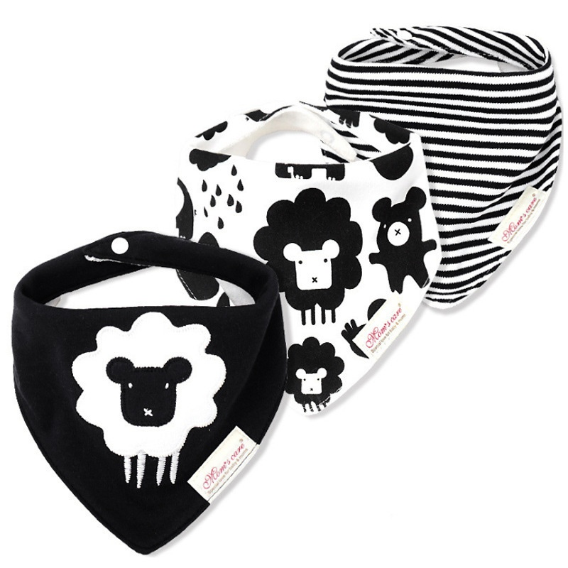 Sale 3-pack Sheep Embroidered Bibs Set for Baby at PatPat com