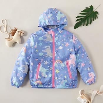 Fashionable Unicorn Allover Coat