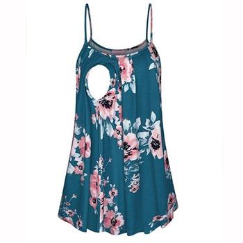 Sassy Floral Print Nursing Camisole