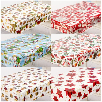 Christmas Animal Plant Print Tablecloth Decor