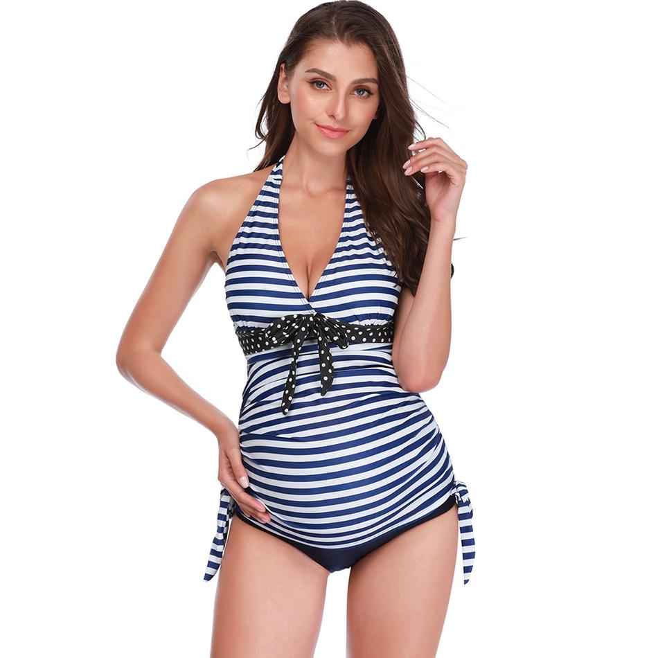 88533652b8 Maternity   Swimsuit for pregnant women 2-piece swimsuit Stripe ...