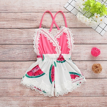 Baby Watermelon Style Strappy Lace Bodysuit