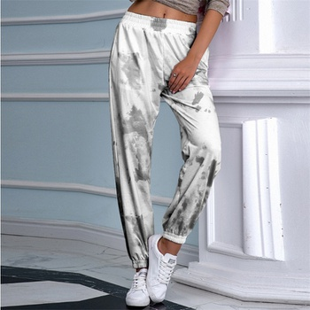 Sports Tie dye Elastic waistband sweartpants pants