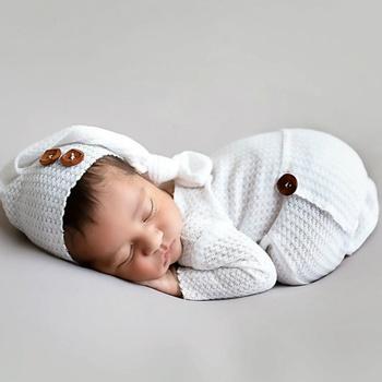 2PCS Baby Knitting Newborn Photography Props Crochet Baby Hats