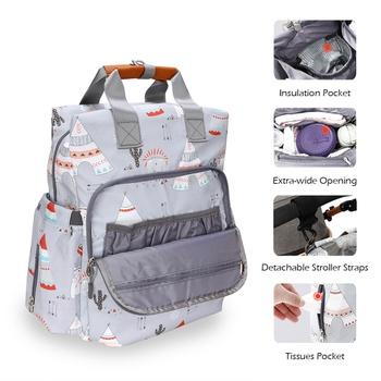 Cartoon Print Large Capacity Diaper Bag Backpack