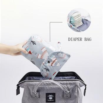 Cartoon Solid Print Waterproof Hanging Cloth Diaper Wet/Dry Bags