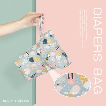 Animal Cartoon Print Waterproof Hanging Cloth Diaper Wet/Dry Bags
