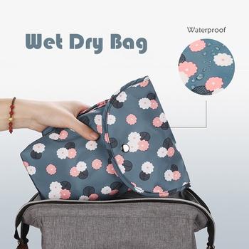 Cartoon Print Floral Waterproof Hanging Cloth Diaper Wet/Dry Bags