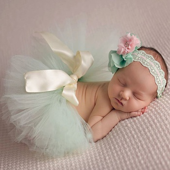 Baby Tutu Skirt and Headband Photography Props Outfits