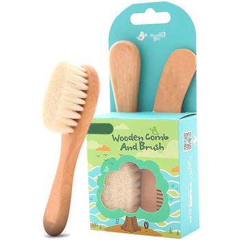 Baby Goat Hair Brush and Comb Set