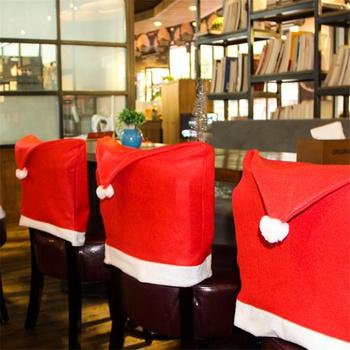 Christmas Chair Hat Design Coverup Decor