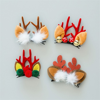 Adorable Christmas Elk Decor Hairpins for Girls