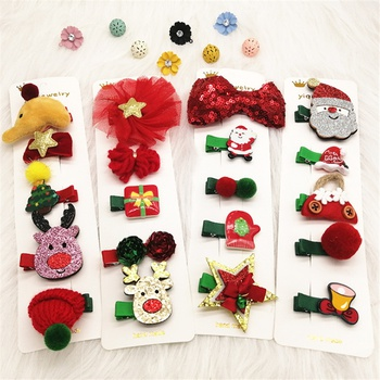 5-pack Christmas Adorable Hairpins for Children
