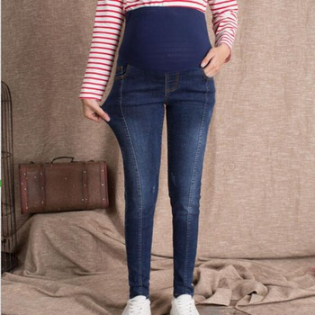 Casual Solid Maternity Jeans