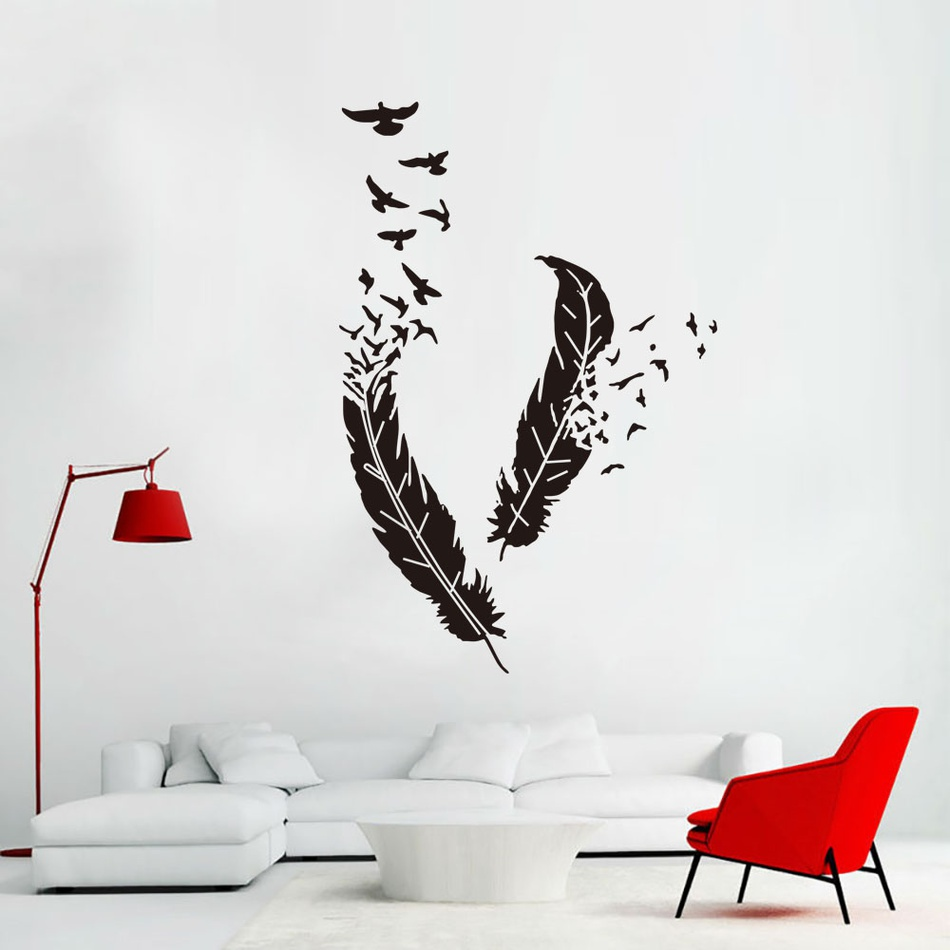 Magnificent Home Accessories Leather And Bird Sticky Wall Decor At Gmtry Best Dining Table And Chair Ideas Images Gmtryco