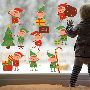 Christmas Freehand Sketch Elf Wall Decor