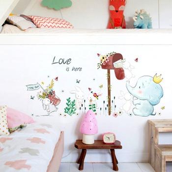 Cartoon Animal Wall Decoration Wallpaper Stickers Kindergarten Baby Bedroom Children Room Decoration