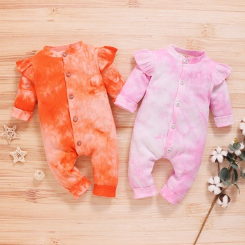 Baby Tie-dyed Ruffled Jumpsuit