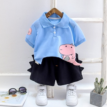 2-piece Baby / Pretty Boy Adorable Dino Print Top and Shorts Sets