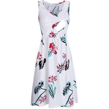 Graceful Allover Sleeveless Nursing Dress