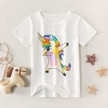 Trendy Cartoon Unicorn Short-sleeve Tee