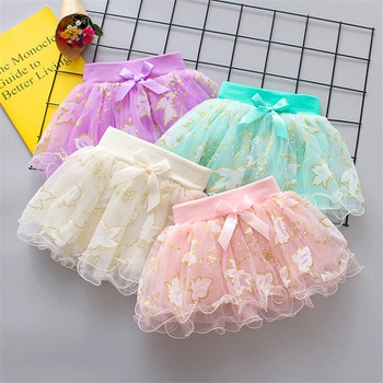 Baby / Toddler Bowknot Mesh Skirt