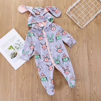 2f3401c56 Easter 3D Rabbit Design Long-sleeve Jumpsuit for Baby