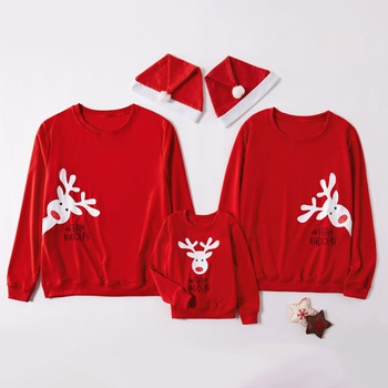 Christmas Deer Pattern Family Matching Sweatshirts