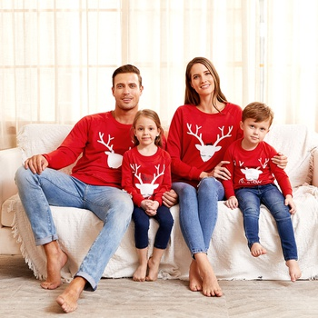 Christmas Elk Pattern Family Matching Sweatshirts