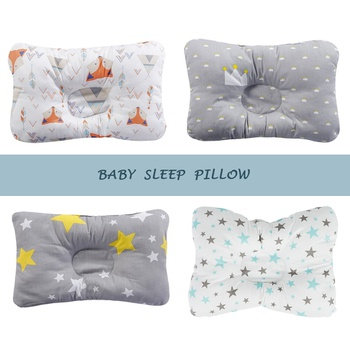 Cotton Baby Pillow Newborn Baby Anti Flat Head Baby Sleep Pillow Baby Bedding Sleep Positioner Support Pillow